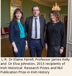 Dr Elaine Farrell Professor James Kelly and Dr Elva Kelly l Research Prize