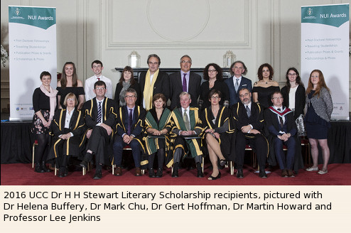 Group Photo 2016 NUIG Dr H H Stewart Literary Scholarship Recipients