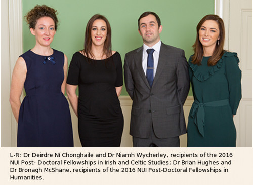 2016 Recipients NUI Post Doctoral Fellowship in Irish and Celtic Studies
