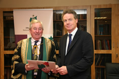 NUI Chancellor Dr Maurice Manning and Professor Gabriel Cooney
