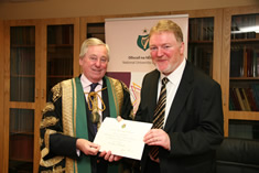 NUI Chancellor Dr Maurice Manning and Dr Joe O'Connell