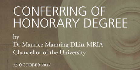 Conferring of Honorary Degrees 2017