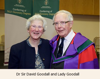 Dr Sir David Goodall and Lady Goodall
