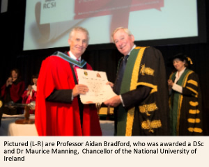Professor Aidan Bradford and NUI Chancellor Dr Maurice Manning