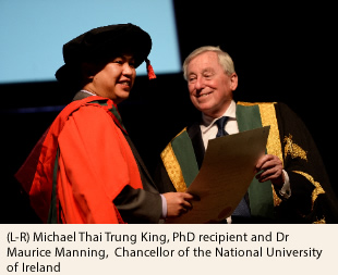 Michael Thai Trung King and Dr Maurice Manning NUI Chancellor