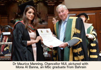 NUI Chancellor Dr Maurice Manning at RCSI Conferring