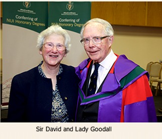 Sir David and Lady Goodall