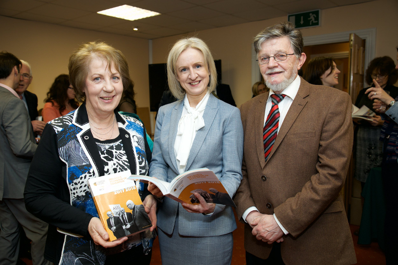 Phyllis Mitchell, Founder and Publisher of Ireland's Yearbook of Education with editorial board members Dr Selina McCoy Education Research Coordiantor at the ESRI, and Pat O'Mahony Education Research Officer ETBI.