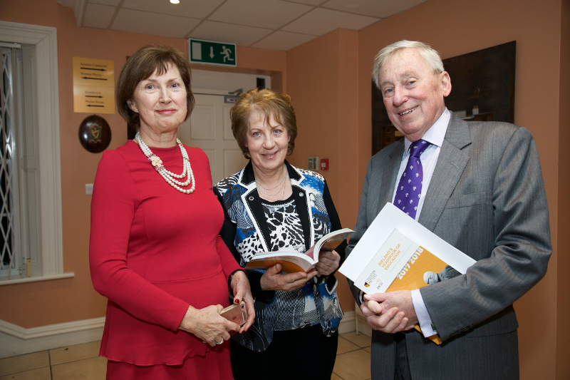 Dr Attracta Halpin, NUI Registrar; Phyllis Mitchell, Founder and Publisher of Ireland's Yearbook of Education and Dr Maurice Manning, NUI Chancellor