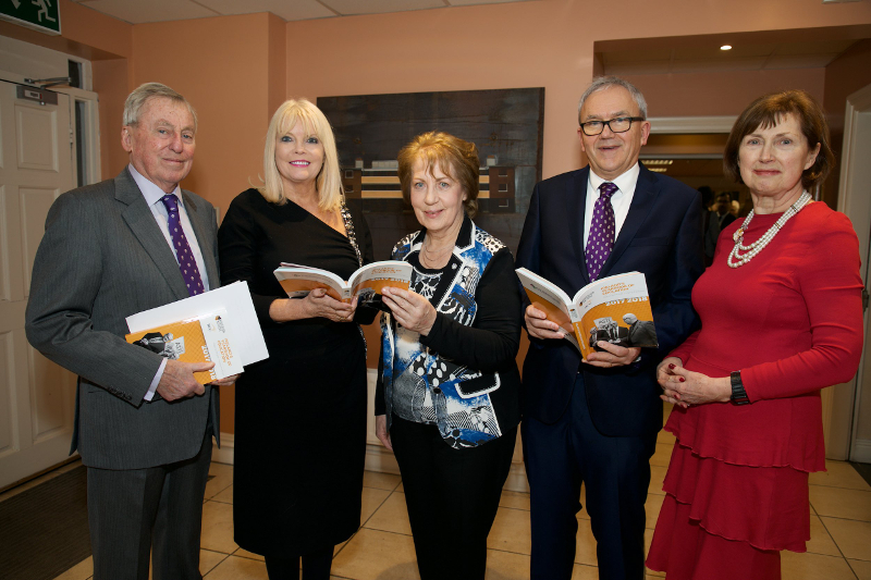 Dr Maurice Manning, NUI Chancellor; Minister of State for Higher Education, Mary Mitchell O'Connor, TD; Phyllis Mitchell, Founder and Publisher of Ireland's Yearbook of Education; Brian Mooney, Editor, Education Matters;  Dr Attracta Halpin, NUI Registrar