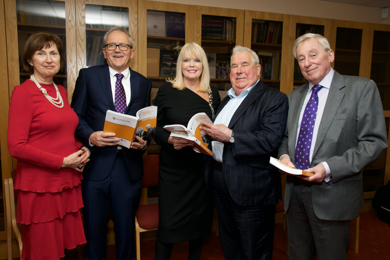 Dr Attracta Halpin, NUI Registrar; Brian Mooney, Editor, Education Matters; Minister of State for Higher Education, Mary Mitchell O'Connor, TD; Prof John Coolahan, Professor Emeritus of Education, Maynooth University; Dr Maurice Manning, NUI Chancellor