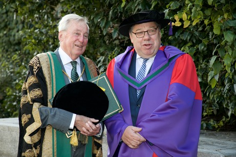 NUI Chancellor Dr Maurice Manning and Dr Brian Cowen