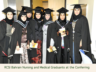 Graduates at RCSI Bahrain Conferring Ceremony