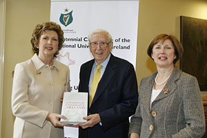 President Mary McAleese and Chancellor Dr Garret Fitzgerald