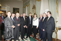 Group picture with the president and members of NUI and QUB