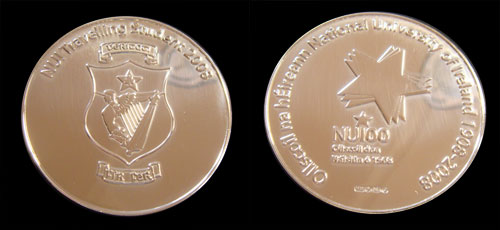 NUI Travelling Student 2008 Medal