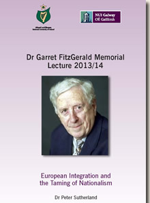 Dr Garret FitzGerald Memorial Lecture 2013/14 Cover Page