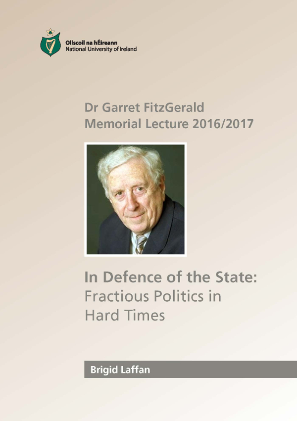 Dr Garret FitzGerald Memorial Lecture 2013/14 September 25th Lecture